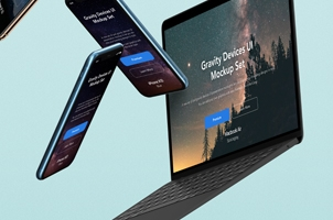 Gravity Psd Devices UI Mockup Set v5