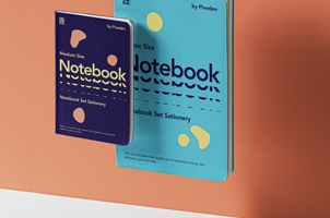 Gravity Psd Notebook Set Mockup