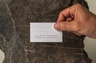 Hand Holding Psd Business Card Mockup