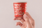 Hand Holding Psd Paper Cup Mockup