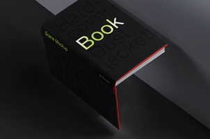 Hardcover Psd Dust Jacket Book Mockup