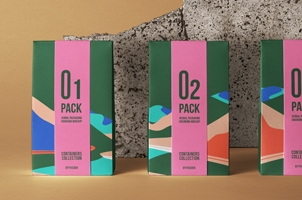 Herbal Psd Bag Packaging Mockup 2