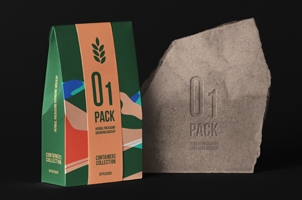 Herbal Psd Bag Packaging Mockup 3