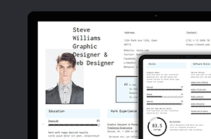 HTML Web Resume Template Model 2 bis