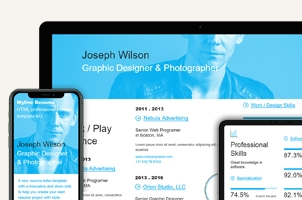 HTML Web Resume Template Model 3