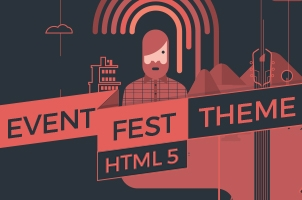 Indie HTML5 Event Landing Page