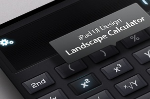 iPad Psd Landscape Calculator UI Kit