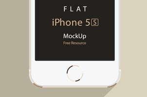 iPhone 5S Psd Flat Design Mockup