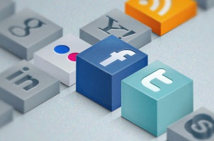 Isometric Social Icons Set