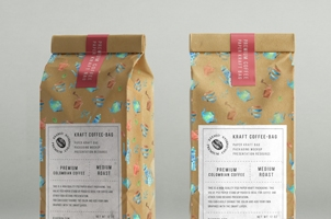 Kraft Coffee Bag Packaging Mockup Vol2