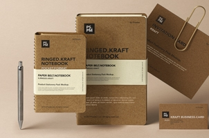 Kraft Psd Stationery Mockup Set