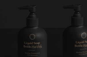 Liquid Soap Bottle Mockup Vol2