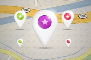 Location Map Pins PSD Pack