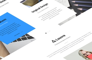 Louvre Agency Psd Landing Page
