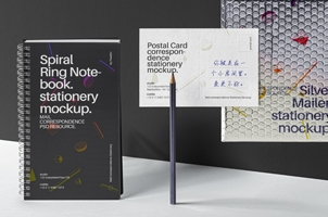 Mailing Psd Stationery Mockup Set