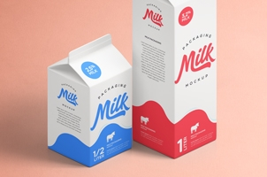 Milk Packaging Psd Mockup Vol2