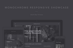 Monochrome Psd Responsive Showcase