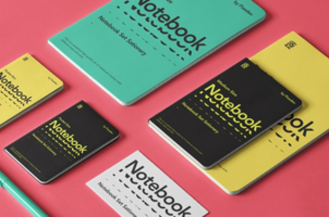 Notebooks Set Psd Stationery Mockup