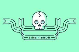 Outline Modern Ribbon Vector Set