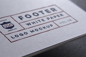 Paper Logo Mock-Up Template