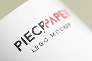 Paper Logo Mock-Up Template Vol2