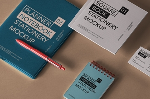 Planner Psd NoteBook Mockup Vol2