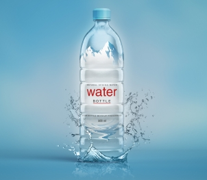 Plastic Psd Water Bottle Mockup