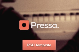 Pressa Agency Psd Web Template