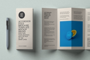 Psd Accordion Fold Mockup US A4 v2