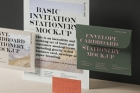 Psd Basic Invitation Stationery Mockup