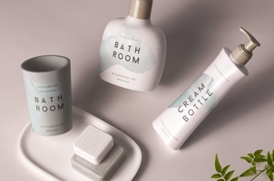 Psd Bathroom Cosmetics Mockup