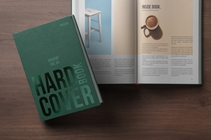 Psd Book Mockup Hardcover Vol4