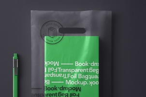 Psd Book Transparent Bag Mockup