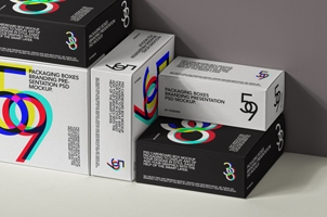 Psd Box Packaging Mockup Set