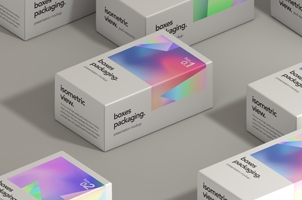 Psd Boxes Packaging Set Mockup