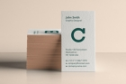Psd Business Card Brand Mockup