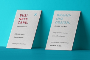 Psd Business Card Branding Mockup 4