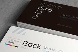Psd Business Card Mock-Up Template Vol 2