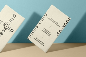 Psd Business Card Mock-Up Vol33