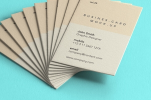 Psd Business Card Mock-Up Vol39