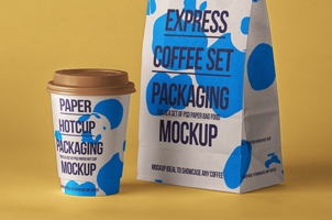 Psd Coffee Packaging Mockup Set 2
