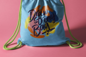 Psd Drawstring Backpack Bag Mockup 2
