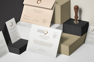Psd Envelope Card Brand Mockup Vol3