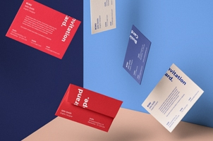 Psd Gravity Cards Mockup Envelope