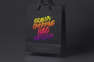 Psd Gravity Shopping Bag Mockup 2