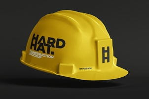 Psd Hard Hat Construction Mockup