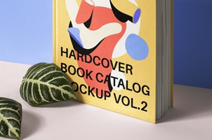 Psd Hardcover Book Catalog Mockup 2