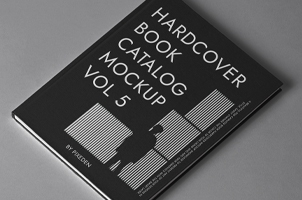 Psd Hardcover Book Catalog Mockup 4