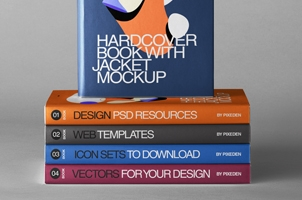 Psd Hardcover Book Jacket Mockup