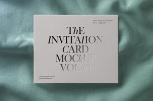 Psd Invitation Card Mockup Vol10